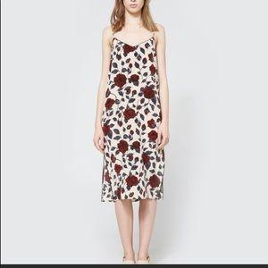 Ganni Elmira floral-print silk dress